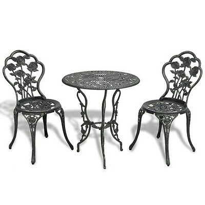 Set Bistro Patio Outdoor Chairs 3 Furniture Garden Chair Aluminum Dining Sling