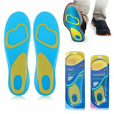 2pcs Activ Gel Insoles Massaging Gel Orthotic Sport Running Insoles Arch Support