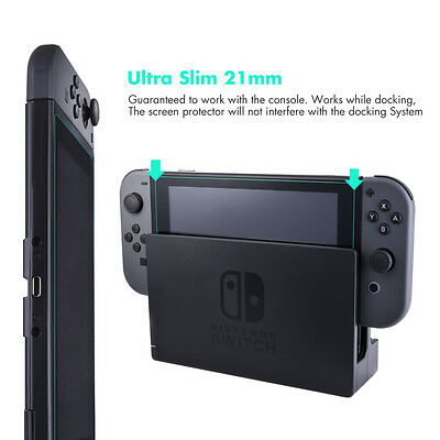 Sunix Tempered Glass Screen Protector Slim Water Repellent for Nintendo Switch