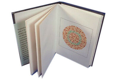 Ishihara Test Chart Books 14 Plates for Color Deficiency.