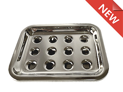 NEW Stainless 2 PC Soap Dish Tray Holder Kitchen & Bathroom RRP $16.5 each