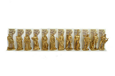 Olympians gods statue set  from Ancient Greek mythology color Gold