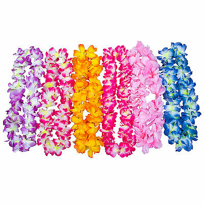 Hawaiian Leis Simulated Silk Flower Leis Dance Party Dress Garland