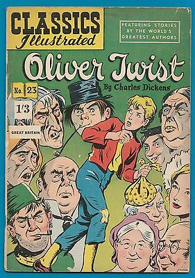Classics Illustrated Comic #23  Oliver Twist by Charles Dickens  early edit.#914