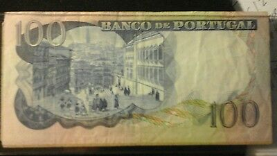 PORTUGAL 100 Escudos Banknote World Money Currency Europe BILL 1965  Note