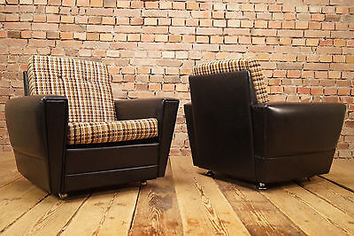 60s PAIR LOUNGE CHAIRS ARMCHAIR DANISH 2x EASY CHAIR VINTAGE Mid-Century Modern
