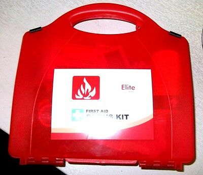 Professional Burns First Aid Kit Box. Uk Compliant. Health And Safety.