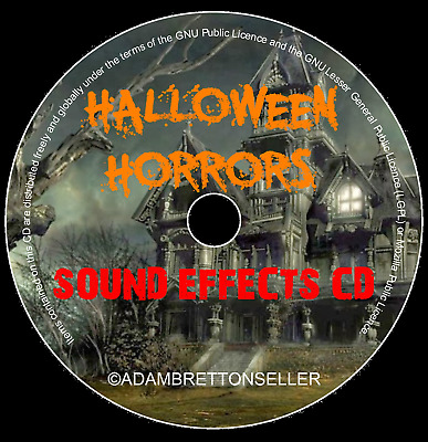 halloween sound effects cd horrors scary party spooky kids
