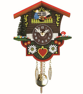 Black Forest Clock Swiss House Wall Mount Watch Analogue Display Home Decoration