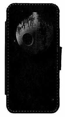 Star Wars Death Star Art Leather Flip Phone Case Cover for iPhone & Samsung D25