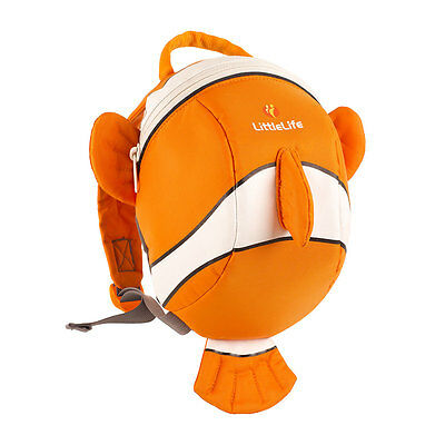 Littlelife Clownfish Nemo Toddler Backpack With Reins, Top Grab Handle