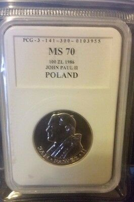 1986 Poland 100 zloty Pope John Paul II Silver coin