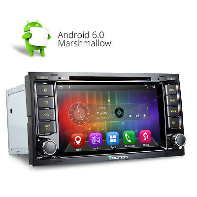 Android 6.0 Car DVD Player Stereo GPS Navigation 3G W for VW Touareg/T5 Multivan