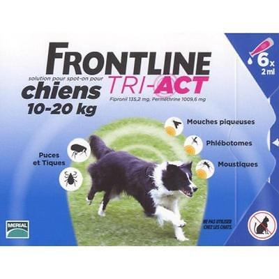 Frontline Tri-Act Spot-on Chiens 10-20 kg 6 Pipettes