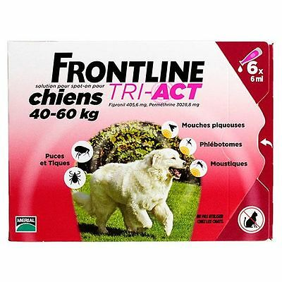 Frontline Tri-Act Spot-on Chiens 40-60 kg 6 Pipettes