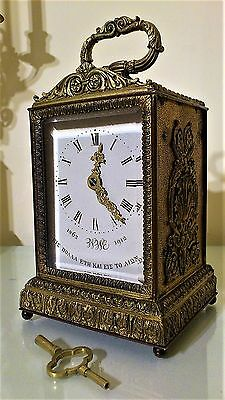 Antique French Striking Carriage / Mantel Clock.