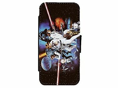 Star Wars Art Leather Flip Phone Case Cover for iPhone & Samsung D20
