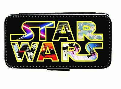 Star Wars Logo Art Leather Flip Phone Case Cover for iPhone & Samsung D17