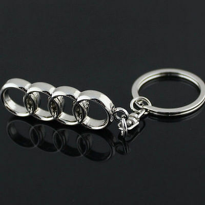 2017New 3D Metal Car Logo Keyring Keychain Pendant Key Holder Ring For AUDI