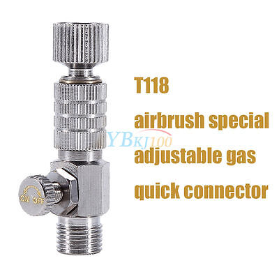 """1 Airbrush Quick Release Disconnect 1/8"""" Plug Adapter Kit Fitting Air Hose S.S"""