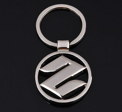 3D Metal Suzuki Car Logo Keyring Keychain Pendant Car Key Holder AS A Gift