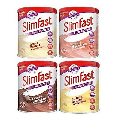 SlimFast Protein Shake Powder Weight Loss Meal Replacement Low Fat ALL FLAVOUR!