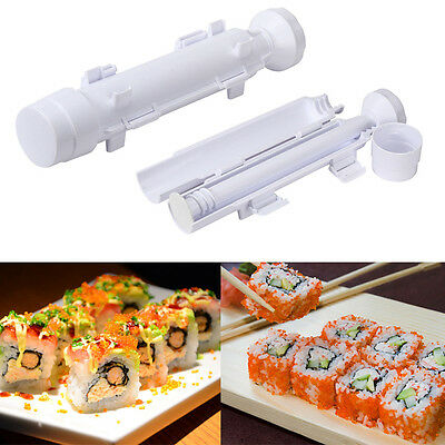 Sushi Roll Maker Kit Rice Roller Mold Mould Chef Kitchen DIY Perfect Set Tool CA