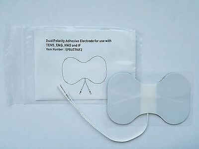 Butterfly Pads for Massagers / Tens Units electrode pads 4x6 Inch White Foam