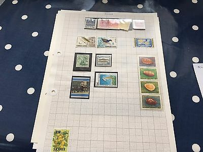Samoa mint & used stamps on album pages direct from estate untouched