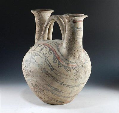 Ancient Double-Spouted Askos from Canosa - Apulian Antiquities - Greek