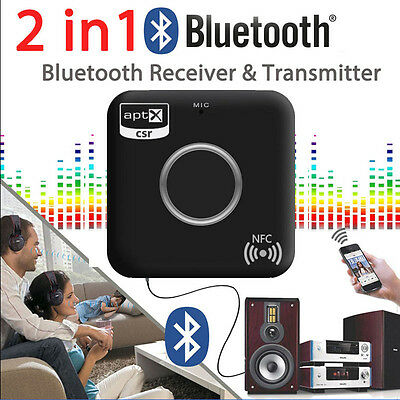 2 In 1 Wireless Bluetooth Transmitter +Receiver A2DP Stereo Audio Music Adapter