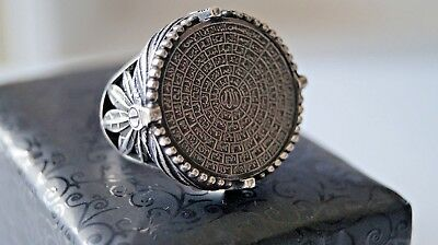 Turkish Handmade Islamic Ottoman Styled 925 Silver Men's Size Large