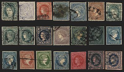 Spanish Antilles Imperfs & Perf Issues 1855-75 Used 21 items