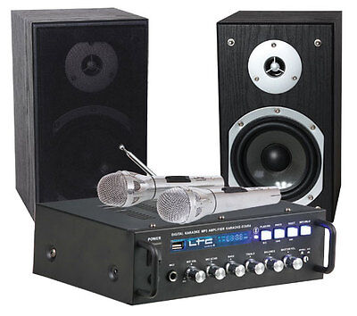 LTC Karaoke Sound System STAR4-MKII Party DJ inc 2 x Mic Bluetooth USB