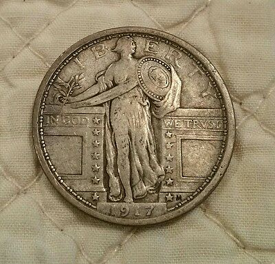 1917 Type 1 Standing Liberty Quarter VF Nice Coin