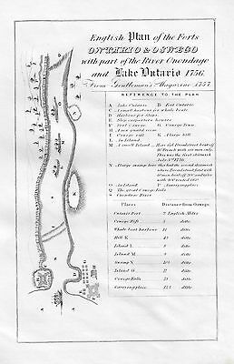 English Plan of the Forts Ontario & Oswego  - by O' Callihan in 1849 - Engraving