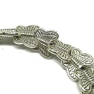 Butterfly Tibetan Silver Spacer Beads. Strand Of 28 Vintage Style 10x8mm Beads.