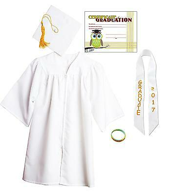Jostens Graduation Cap And Gown Package Small White
