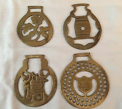 Collectible Solid Brass Horse Medallions - 4 Different - England