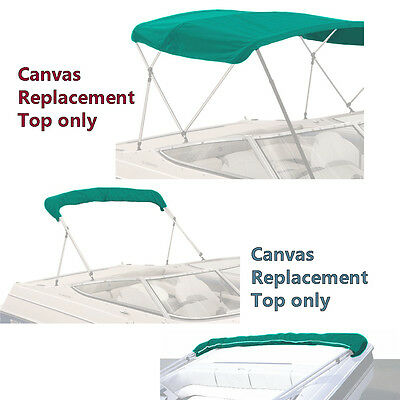 """Bimini Top Boat Cover Canvas Fabric Teal W/boot Fits 3 Bow 72""""l 46""""h 73""""-78""""w"""