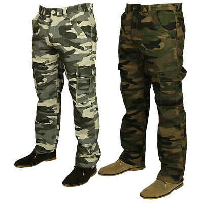 306e9eae46 Bnwt Mens Forge Combat Cargo Camo Army Pants Trousers Smart Casual Sizes  28-48