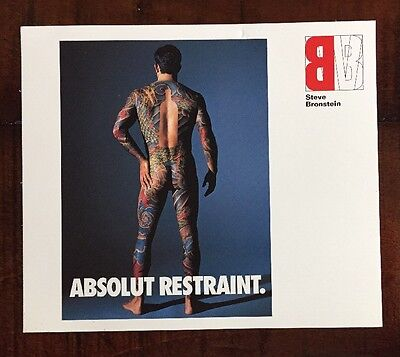 Absolut Vodka Absolut Restraint Photo Card Promotion 1980s