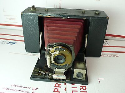 Vintage Kodak No. 3 Folding Brownie film Camera Red bellow -   for parts