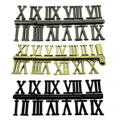 New Self Adhesive Black Silver Gold Plastic Clock Roman Numerals Numbers Various