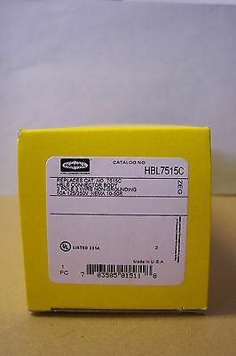 Hubbell HBL7515C 50A 125/250V 3P 3W Connector, NEMA 10-50R, New