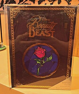 Disney Parks Disney Archives Beauty & The Beast Replica Storybook / Note Cards
