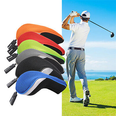 3pcs Wood Golf Hybrid Club Driver Headcovers Head Cover Set Interchangeable 1 3
