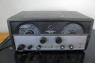 Hallicrafters S-85 Tube Shortwave Radio Receiver -- Powers Up --