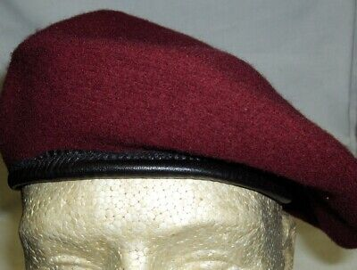 f2609cea27d58 BERET MILITARY STYLE WITH TRIM DRAWSTRING Black,Green,Red,Navy,Maroon ALL