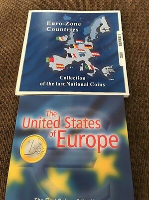 Euro Zone Countries Collection Of The  Last National Coins And First Euro Coins